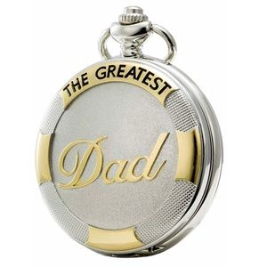"""Other - Gold&Silver """"The Greatest Dad"""" Pocket Watch Gift"""